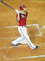 Jun. 1, 2011; Phoenix, AZ, USA; Arizona Diamondbacks shortstop Stephen Drew against the Florida Marlins at Chase Field. Mandatory Credit: Mark J. Rebilas-