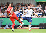 10.08.2019,  GER; DFB Pokal, SV Drochtersen/Assel vs FC Schalke 04 ,DFL REGULATIONS PROHIBIT ANY USE OF PHOTOGRAPHS AS IMAGE SEQUENCES AND/OR QUASI-VIDEO, im Bild LIam Giwah(Drochtersen #28) versucht sich gegen Steven Skrzybski (Schalke #22) durchzusetzen Foto © nordphoto / Witke *** Local Caption ***
