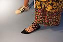 Shoes with different style at Spazio Pontaccio, a design gallery in Milan, April 11, 2016. &copy; Carlo Cerchioli<br /> <br /> Stili diversi di scarpe allo Spazio Pontaccio, galleria di design a Milano 11 parile, 2016.