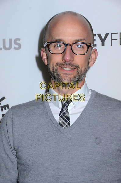 Jim Rash.The Paley Center For Media's PaleyFest 2013 Honoring 'Community' at Saban Theatre, Los Angeles, California, USA.  .March 5th, 2013.headshot portrait grey gray sweater jumper top glasses shirt tie check beard facial hair .CAP/ADM/BT.©Birdie Thompson/AdMedia/Capital Pictures.