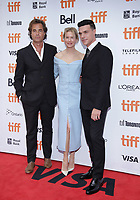 """TORONTO, ONTARIO - SEPTEMBER 10: Renee Rupert Goold, Renee Zellweger and Finn Wittrock attend the """"Judy"""" premiere during the 2019 Toronto International Film Festival at Princess of Wales Theatre on September 10, 2019 in Toronto, Canada. <br /> CAP/MPI/IS/PICJER<br /> ©PICJER/IS/MPI/Capital Pictures"""