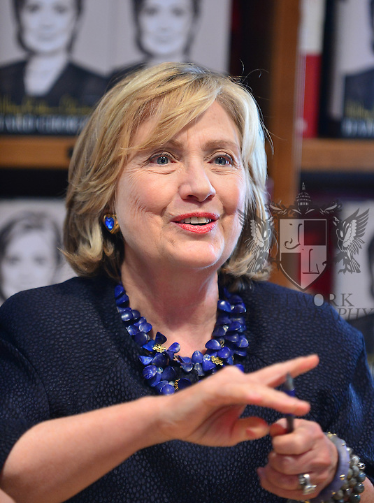 CORAL GABLES, FL - OCTOBER 02: Hillary Rodham Clinton greets fans and signs copies of her book 'Hard Choices' at Books and Books on Thursday October 2, 2014 in Coral Gables, Florida. (Photo by Johnny Louis/jlnphotography.com)