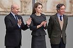 Queen Letizia of Spain and Spanish Culture Minister Ignacio Wert attend Velazquez Visual Arts Award ceremony at Prado Museum in Madrid, Spain. November 17, 2014. (ALTERPHOTOS/Victor Blanco)