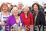 Siobhan Sheahan(Killarney), Anna Walsh(Listowel), Liam Sheahan(Killarney), Catherine Sheahan Boyle and Margaret Wright(Seattle) at opening day of the Listowel races last Sunday afternoon.