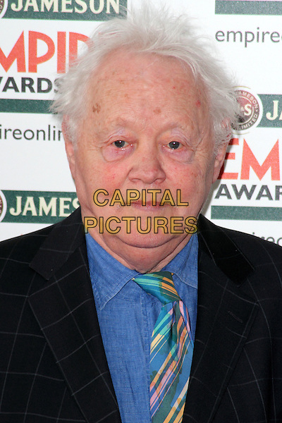 Dudley Sutton.Jameson Empire Film Awards at the Grosvenor House Hotel, Park Lane, London, England..March 25th 2012.headshot portrait blue shirt jacket black green stripe tie .CAP/ROS.©Steve Ross/Capital Pictures