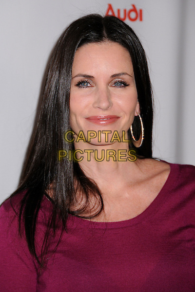 "COURTENEY COX ARQUETTE.""Dirt"" Season Two Premiere Screening at Arclight Cinemas, Hollywood, California, USA..February 28th, 2008.headshot portrait pink purple fuschia top gold hoop earrings .CAP/ADM/BP.©Byron Purvis/AdMedia/Capital Pictures."