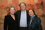 Kate Mulgrew, Douglas Aibel and Dale Soules attends The Vineyard Theatre's Emerging Artists Luncheon at The National Arts Club on November 9, 2017 in New York City.