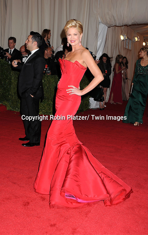 """Nancy O'Dell in Zac Posen attends the Costume Institute Gala Benefit celebrating """"Schiaparelli and Prada: Impossible Conversations"""".an exhibition at the Metropolitan Museum of Art in New York City on May 7, 2012."""