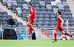 Stockholm 2014-05-04 Fotboll Superettan Hammarby IF - IFK V&auml;rnamo :  <br /> V&auml;rnamos Juan Robledo har kvitterat till 2-2 och jublar <br /> (Foto: Kenta J&ouml;nsson) Nyckelord:  Superettan Tele2 Arena Hammarby HIF Bajen V&auml;rnamo jubel gl&auml;dje lycka glad happy