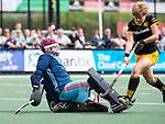 DEN BOSCH -  Imme van der Hoek (Den Bosch) met links Yvonne Frank,   tijdens  de finale van de EuroHockey Club Cup, Den Bosch-UHC Hamburg (2-1).  .COPYRIGHT KOEN SUYK