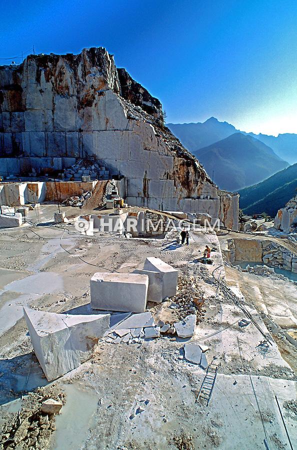 Extração de mármore em Carrara. Itália. 1996. Foto de Juca Martins.