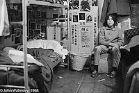 One of the bedrooms, Summerhill school, Leiston, Suffolk, UK. 1968.