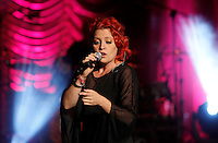 La cantante Noemi in concerto all'Auditorium Parco della Musica, Roma, 1 agosto 2012.<br />