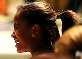 Malia Obama, the daughter of United States President Barack Obama, attends a White House music series concert saluting Broadway in the East Room at the White House in Washington on Monday, July 19, 2010.   .Credit: Kevin Dietsch - Pool via CNP