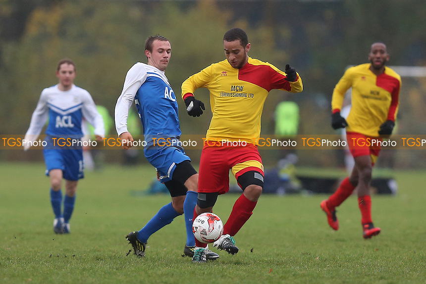 FC Krystal (blue/white) vs Tottenham Phoenix, Hackney & Leyton Sunday League Football at Hackney Marshes on 20th November 2016