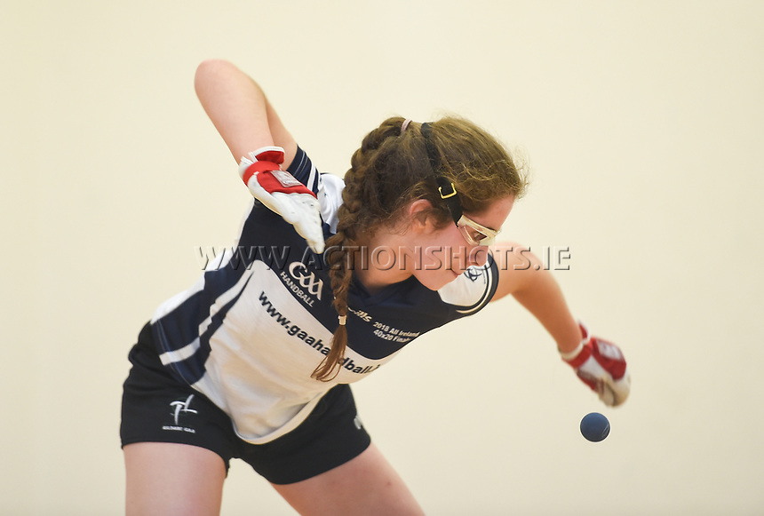 07/04/2018; GAA Handball O&rsquo;Neills 40x20 Championship Final Girls Minor Doubles Clare (Catriona Millane/Bridin Dinan) v Kildare (Leah Doyle/Molly Dagg); Kingscourt, Co Cavan;<br /> Molly Dagg.<br /> Photo Credit: actionshots.ie/Tommy Grealy