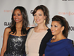 LOS ANGELES, CA - OCTOBER 24: Zoe Saldana, Olivia Wilde and Eva Longoria attend the Glamour Reel Moments at DGA Theater on October 24, 2011 in Los Angeles, California.