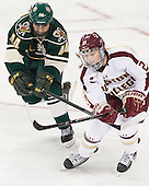 Victoria Andreakos (UVM - 44), Lexi Bender (BC - 21) - The Boston College Eagles defeated the visiting University of Vermont Catamounts 2-0 on Saturday, January 18, 2014, at Kelley Rink in Conte Forum in Chestnut Hill, Massachusetts.