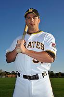 Feb 28, 2010; Bradenton, FL, USA; Pittsburgh Pirates  infielder Steve Pearce (51) during  photoday at Pirate City. Mandatory Credit: Tomasso De Rosa/ Four Seam Images