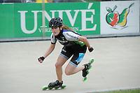 INLINE-SKATEN: HEERDE: Skeeler- en Skatecentrum Hoornscheveen, Europa Cup/Univé Skate Off, 05-05-2012, Leathisia Schimek (#19), ©foto Martin de Jong