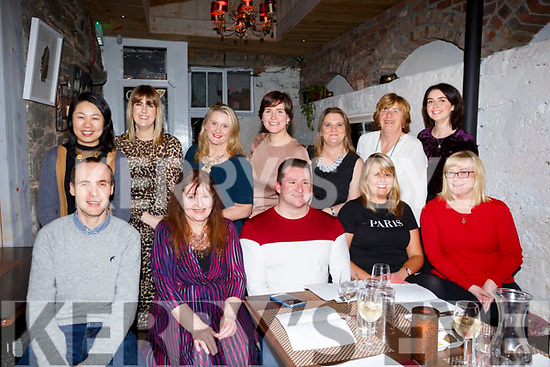 Kerry County Council Sports Social Club having their night out in Croi. Restaurant on Friday night last. Seated l-r, Darren Burke, Ann Ferguson, Roy Guerin, Sharon O&rsquo;Keffee and Lisa O&rsquo;Carroll.<br /> Standing l-r, Amber Hayden, Leanne Ryan, Eileen Davis, Siobhan Fitzpatrick, Suzanne Dowling, Siobhan O&rsquo;Mahoney and Gerardine Cotter.