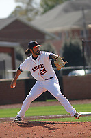 Buies Creek Astros pitcher Ralph Garza (26) on the mound during a game against the Winston-Salem Dash at Jim Perry Stadium on the campus of Campbell University on April 9, 2017 in Buies Creek, North Carolina. Buies Creek defeated Winston-Salem 2-0. (Robert Gurganus/Four Seam Images)