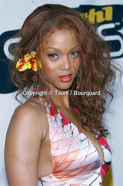 Tyra Banks arriving at the VH1 Divas at the MGM Grand Arena in Las Vegas. April 18, 2004