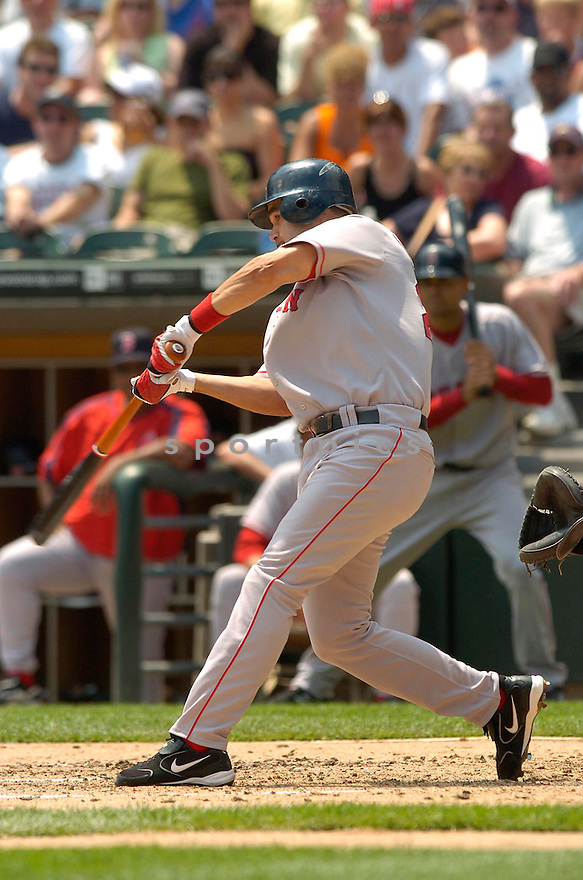 Mike Lowell, of the Boston Red Sox, during their game against the Chicago White Sox on July 8, 2006 in Chicago...Red Sox win 9-6..David Durochik / SportPics
