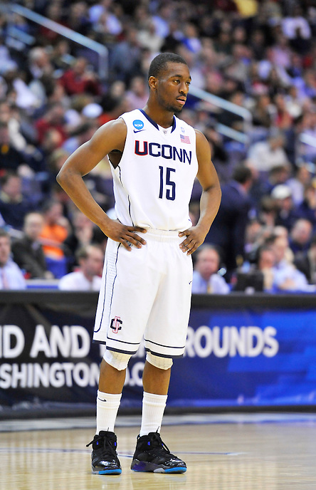 Kemba Walker of the Huskies waits for game to resume. UConn defeats Cincinnati 69-58 during the 3rd round of the NCAA Tournament at the Verizon Center in Washington, D.C on Saturday, March 19, 2011. Alan P. Santos/DC Sports Box