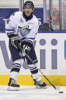 QMJHL (LHJMQ) hockey profile photo on Rimouski Oceanic Michael Joly October 6, 2012 at the Colisee Pepsi in Quebec city.