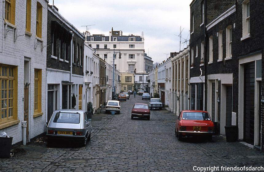 London: A Mews. Eccleston Mews.