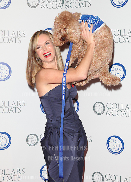 Amanda Holden arriving for the Collars And Coats Ball, at Battersea Evolution, London. 08/11/2012 Picture by: Alexandra Glen / Featureflash