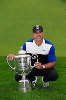 Brooks Koepka (USA) with the Wanamaker trophy after winning the PGA Championship 2019, Beth Page Black, New York, USA. 20/05/2019.<br /> Picture Fran Caffrey / Golffile.ie<br /> <br /> All photo usage must carry mandatory copyright credit (© Golffile | Fran Caffrey)