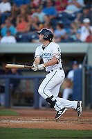 West Michigan Whitecaps first baseman Will Allen (16) at bat during a game against the Burlington Bees on July 25, 2016 at Fifth Third Ballpark in Grand Rapids, Michigan.  West Michigan defeated Burlington 4-3.  (Mike Janes/Four Seam Images)