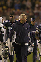 18 December 2005:Cowboys Coach Bill Parcells (Tuna) and Keyshawn Johnson..The Washington Redskins defeated the Dallas Cowboys 35-7  at FedEx Field in Landover, MD.