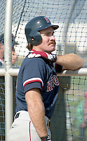 Boston Red Sox third baseman Wade Boggs (26) during spring training circa 1992 at Chain of Lakes Park in Winter Haven, Florida.  (MJA/Four Seam Images)