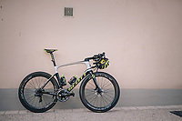 Mathew Haymen's (AUS/Mitchelton Scott) brand new Scott Foil RC; ready for it's maiden voyage<br /> <br /> D-1: last preperations 1 day before the start of the race<br /> <br /> Team Mitchelton-Scott going for a coffee-ride<br /> <br /> Le Grand D&eacute;part 2018<br /> 105th Tour de France 2018<br /> &copy;kramon