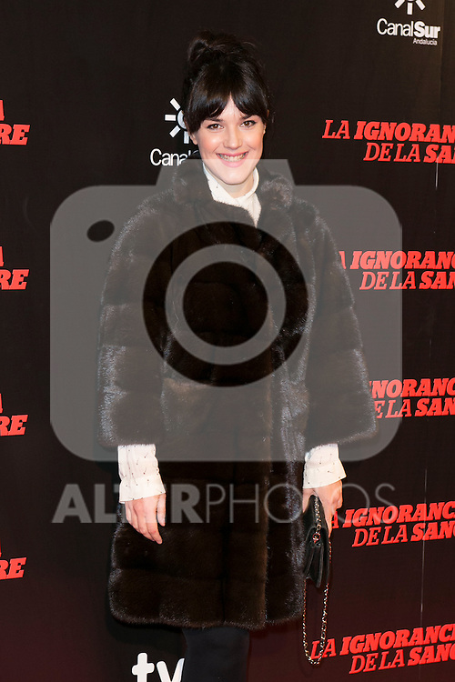 "Sara Vega attends ""La Ignorancia de la Sangre"" Premiere at Capitol Cinema in Madrid, Spain. November 13, 2014. (ALTERPHOTOS/Carlos Dafonte)"