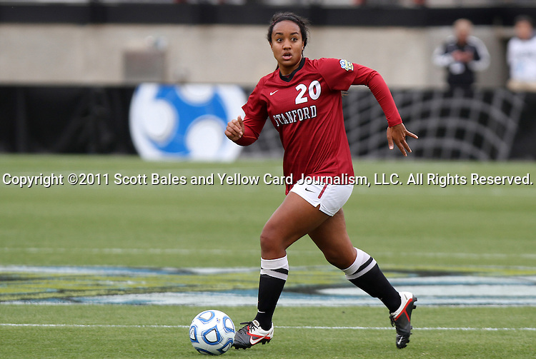 04 December 2011: Stanford's Mariah Nogueira. The Stanford University Cardinal defeated the Duke University Blue Devils 1-0 at KSU Soccer Stadium in Kennesaw, Georgia in the NCAA Division I Women's Soccer College Cup Final.