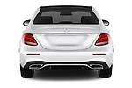 Straight rear view of 2016 Mercedes Benz E-Klasse Sportline 4 Door Sedan Rear View  stock images