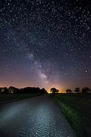 The milky Way Galaxy low in the Minnesota sky.