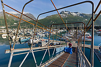 Dock ramp and landing, Whittier harbor, southcentral Alaska.