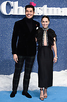 """LONDON, UK. November 11, 2019: Henry Golding and Emelia Clarke arriving for the """"Last Christmas"""" premiere at the BFI Southbank, London.<br /> Picture: Steve Vas/Featureflash"""
