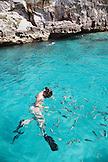 EXUMA, Bahamas. Snorkeling and exploring around and inside the Thunderball Cave.