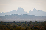 Castle Dome Mountains in the haze, Arizona