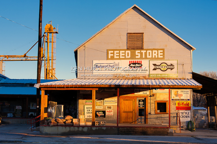 Feed Store in downtown Waxahachie, Texas.