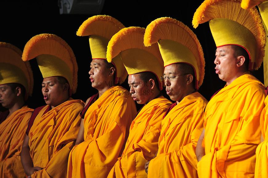 Tibetan monks during a visit to Aspen, Colorado. © Michael Brands, 2008