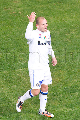29.10.2010 Wesley Sneijder (Inter). Football : Italian Serie A 2010-2011, match between  Genoa and Inter Milan at Luigi Ferraris Stadium, Genova, Italy,