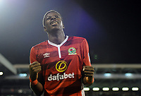Blackburn Rovers' Lucas Joao celebrates scoring his sides second goal <br /> <br /> Photographer /Ashley WesternCameraSport<br /> <br /> The EFL Sky Bet Championship - Fulham v Blackburn Rovers - Tuesday 14th March 2017 - Craven Cottage - London<br /> <br /> World Copyright &copy; 2017 CameraSport. All rights reserved. 43 Linden Ave. Countesthorpe. Leicester. England. LE8 5PG - Tel: +44 (0) 116 277 4147 - admin@camerasport.com - www.camerasport.com