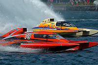 """Mike Monahan, GP-79 """"Bad Influence"""" and Marty Wolfe, GP-93 """"Renegade""""  (Grand Prix Hydroplane(s)<br /> <br /> Régates de Valleyfield<br /> Salaberry Valleyfield, Québec Canada <br /> 10-12 July, 2015<br /> <br /> ©2015, Sam Chambers"""